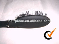 Professional hair extensin bristle brush, boar brush, wooden pad wig brush wholesale