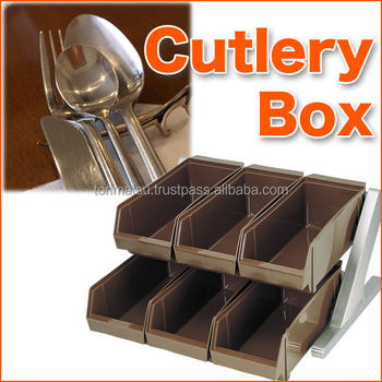 Marvelous Stainless Steel Flame And Plastic Cutlery Storage Box Set For Knife And  Spoon