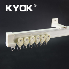 Retail KYOK double curtain rod & curtain rod accessories factory, aluminum curtain rail,flexible curtain rail