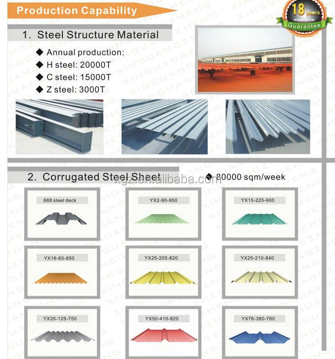2014 new design H beam steel metal building materials