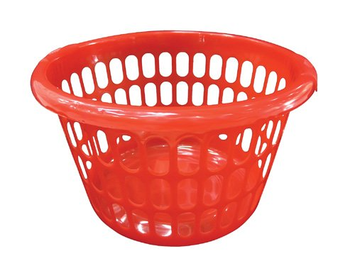 Good Quality Simple Red Plastic Design Laundry Basket