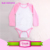 Best design Cotton & Spandex Material blank infant rompers black neck/sleeves and white body Rompers Product Type baby onesie