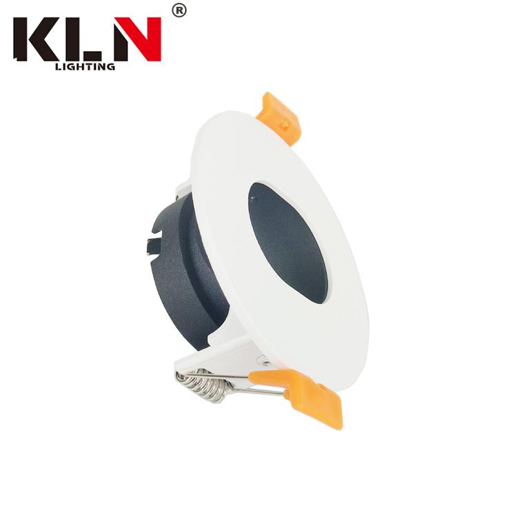 Oval Design Aluminium Recessed Spot Light Frame COB LED MR16 GU10 Downlight Holder