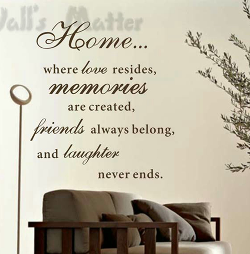 Free Shipping Family Is Vinyl Wall Lettering Quote Wall: Large Size 83x76cm Free Shipping Home Love Resides Family