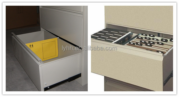 Safty Furniture Fashion Office Lockable Vertical 4 Drawer Lateral File  Cabinet