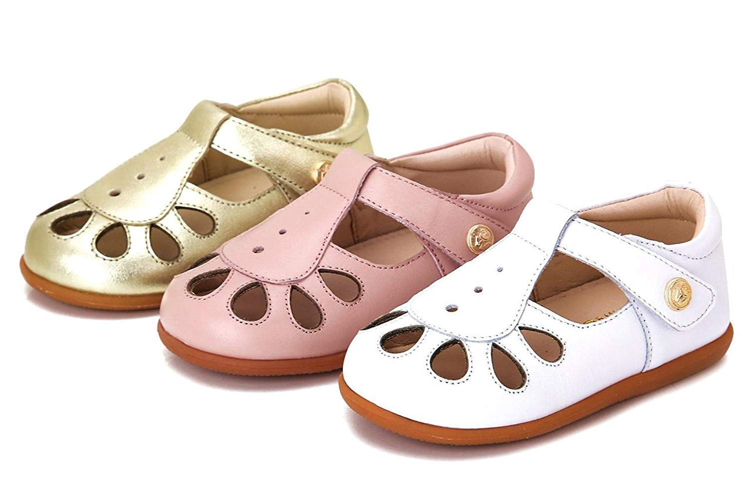 feac58947890 Toddler Baby Girl Shoes kids sandals Mary Jane flats dress Genuine Leather  velcro walking shoes USA