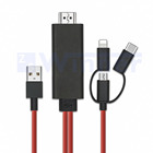 3 in 1 HDMI Adapter Cable, Lighting / Type-C / Micro USB to HDMI Cable , Mirror Mobile Phone Screen to TV / Projector / Monitor