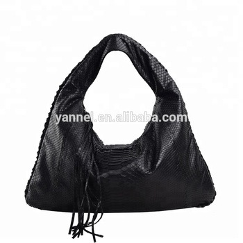 07ad8bb436b9 Latest Black Python Skin Hobo Bag Shoulder Handbags - Buy Bags ...