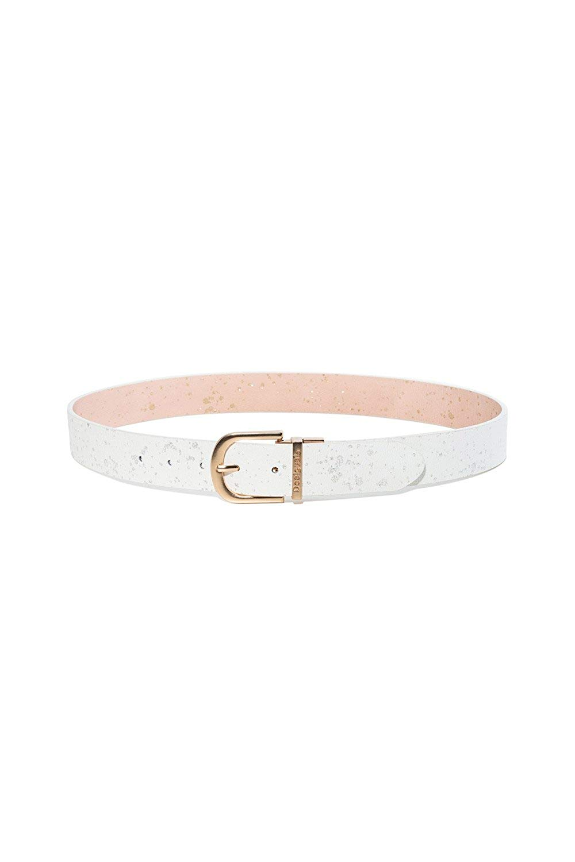 Get Quotations · Desigual Women s 18SARP19WHITEPINK White Pink Polyurethane  Belt f29f71697c8