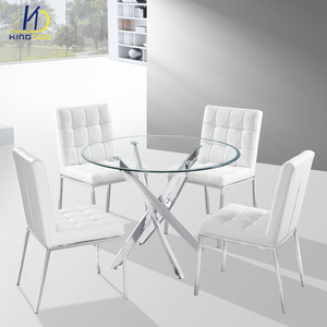 Modern dining furniture Glass top round kitchen table