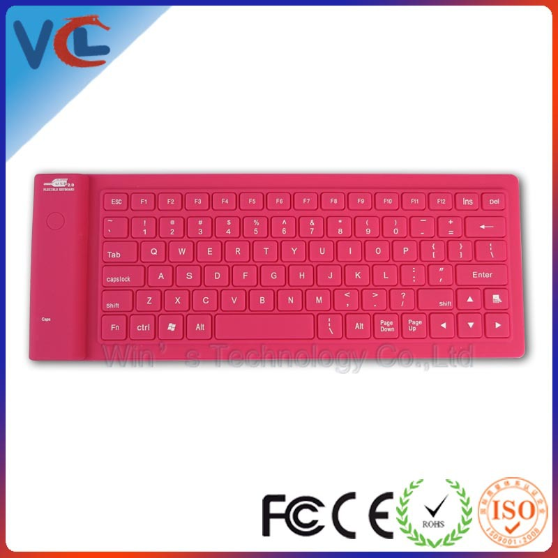 Waterproof silicone computer keyboard portable key board for laptop