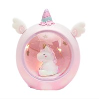 Student desktop decoration ins pink girl heart unicorn star lights lighting ornaments creative gifts night light