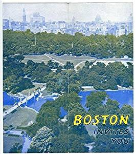 1930's Boston Invites You Tourism Brochure Facts Conventions Sights Activities