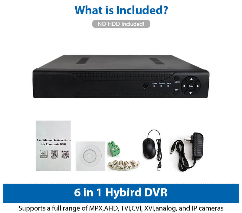 Full HD HDMI ONVIF AHD CCTV Surveillance Security System Digital Video  Recorder 4Channel HD DVR H 264 for iPhone Android, View DVR, ENSTER Product