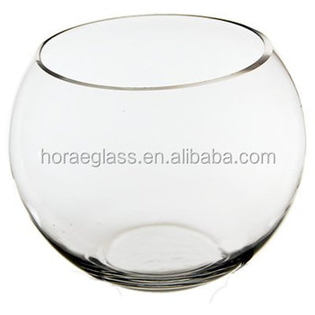 A Hydroponic Plant Vase Fish Bowl Round Glass Vase Buy Clear Glass