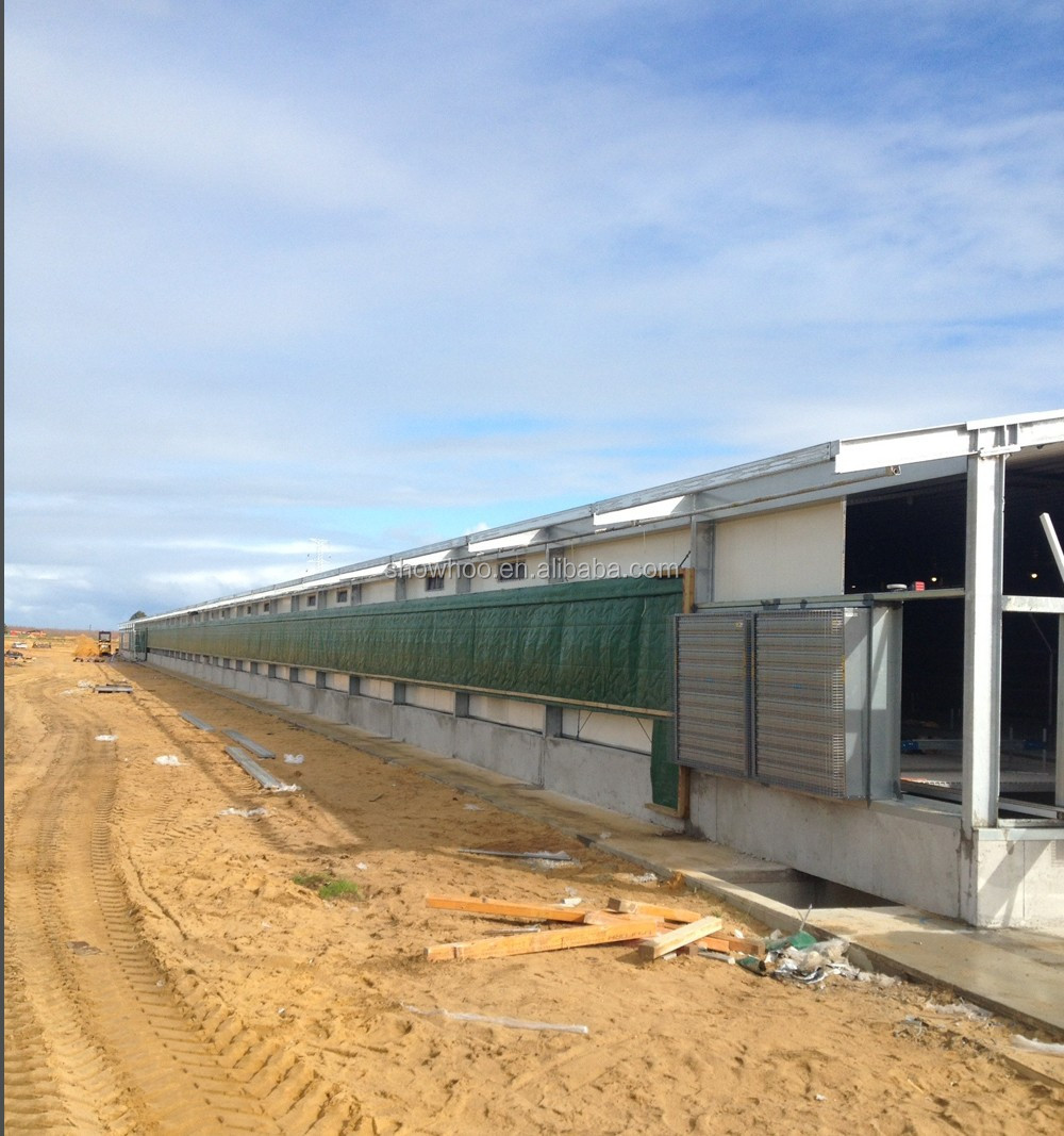 Commercial Chicken House low cost sandwich panel layer broiler chicken poultry shed prefab