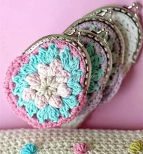 fashion design crochet and knitting craft diy kit double crochet flower handbag tote for wowen girls