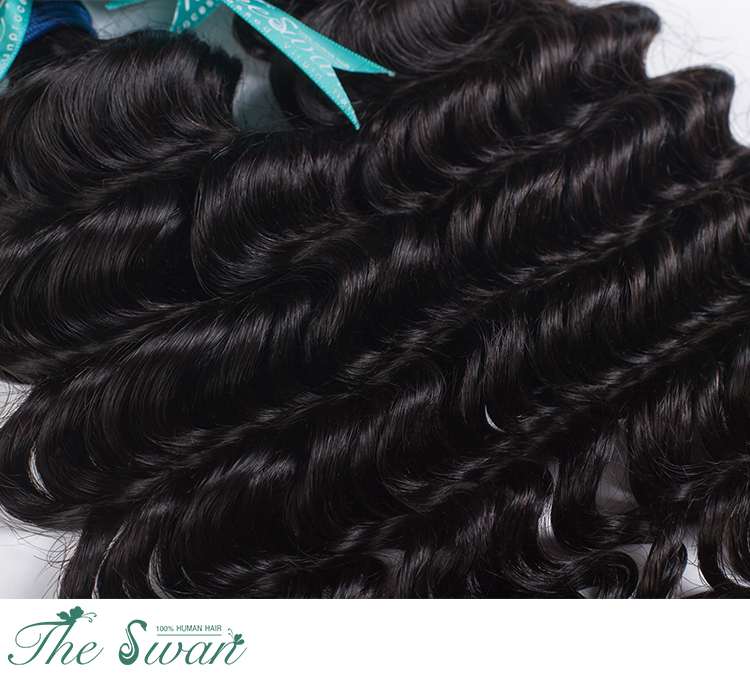 Swan Wholesale 9a Grade Brazilian Curly 100 Human Hair Extension In