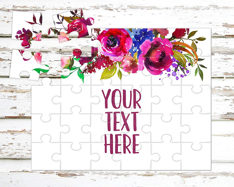 Custom Puzzle Create Your Own Puzzle Wedding Announcement Personalized Puzzle Announcement Ideas CYOP0029 Pregnancy Announcement