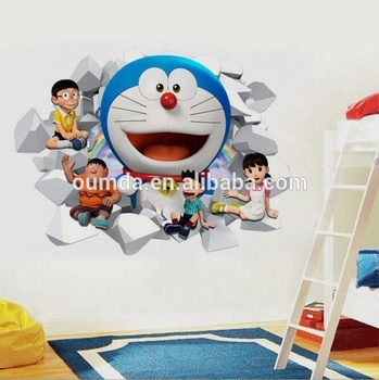 doraemon 3d wall decal kids room decor stickers - buy room decor 3d