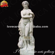 white marble greek lady statue sculpture RLA0010