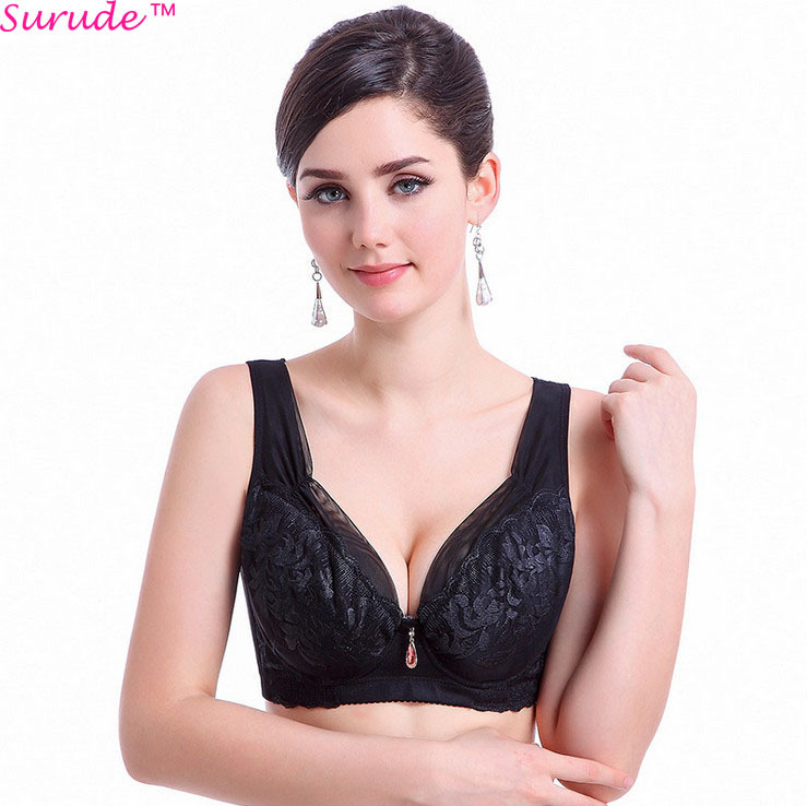 af2549c7d Get Quotations · Fashion Push Up Sexy Women Bras Floral Deep V  Adjusted-Straps Cotton Lingerie Comfortable Bra