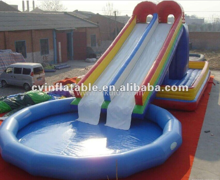 Inflatable pool slides for inground pools inflatable water slide pool buy inflatable pool for Local swimming pools with slides