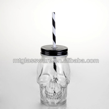 New Design Skull Glass Bottle Decorative Jars And Vases Buy New Fascinating Glass Decorative Jars With Lids