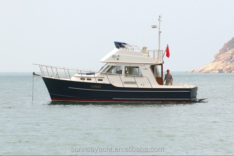 Sunrise 34 Small Fiberglass Yacht Luxury Yacht For Sale