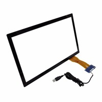 Wholesale 15 inch LED/LCD 4K capacitive USB multi touch screen monitor touch panel with anti glare glass