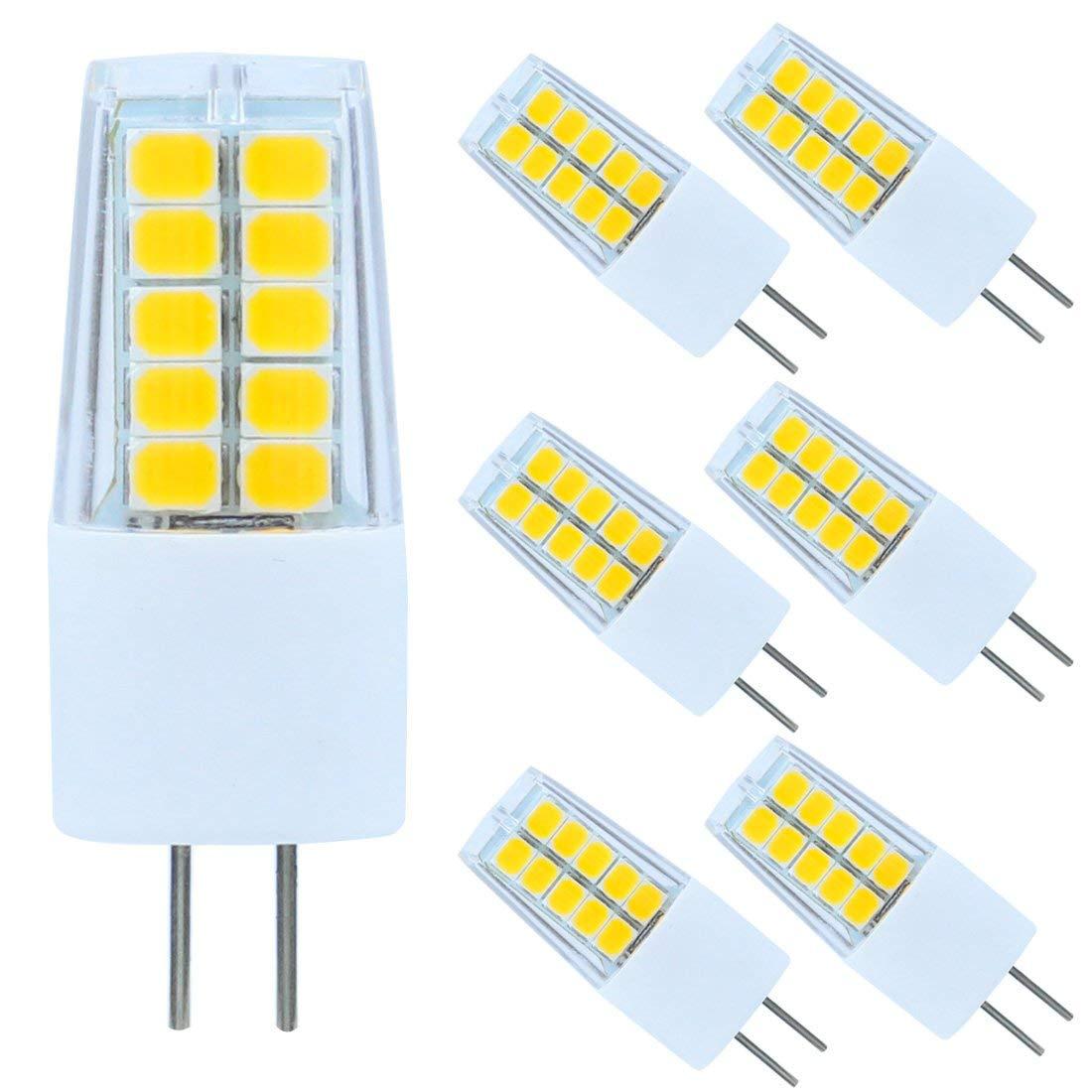 Reelco LED G4 Bulb Bi-Pin Base T3 Bulbs AC/DC 12V 3Watt 2700K-3000K Warm White Light Bulb 20W-30Watt Halogen Replacement (6-Pack)