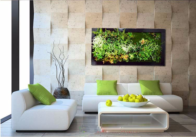 Wholesale artificial outdoor wall plant plastic wall for Cheap garden office
