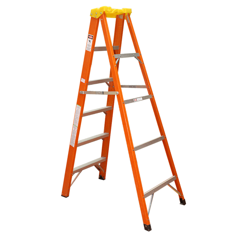 Safety fiberglass insulation folding a shape ladder