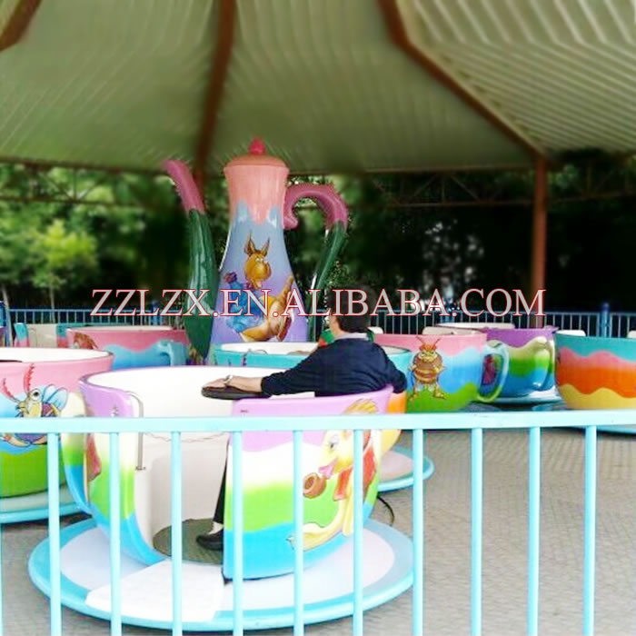 Tea cup ride for sale exported to Myanmar atraction for child