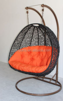 Patio Swing Hammock Two Seater Chair With Double Hanging Chain