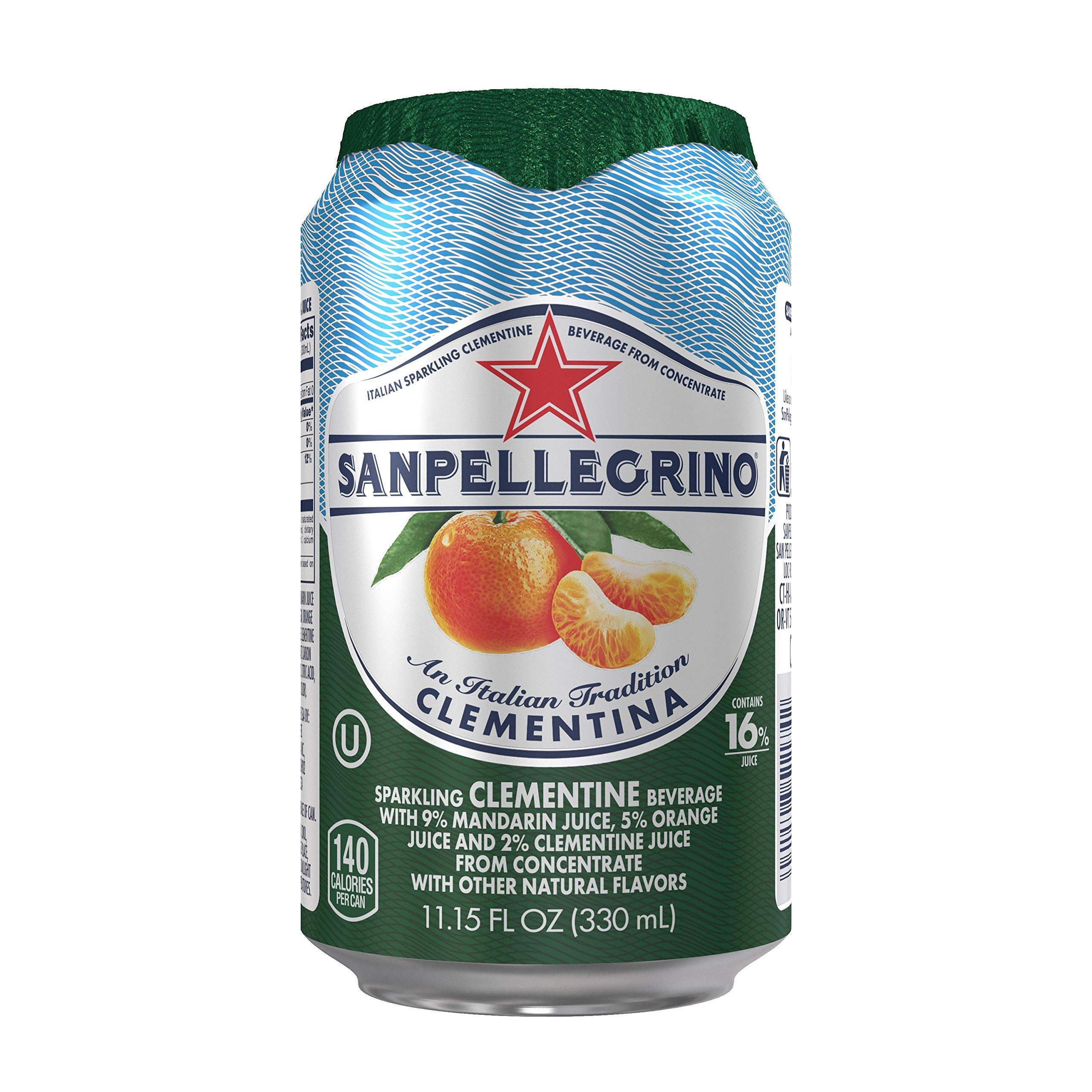 Sanpellegrino Clementine Sparkling Fruit Beverage, 11.15 fl oz. Cans (24 Count)