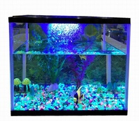 glass tank aquarium fish tank with led light and filter pump water pump