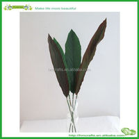 plastic raw materials artificial bird of paradise flower leaf