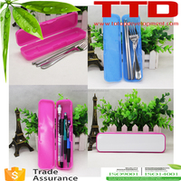 2D sublimation blank plastic pen and pencil case , pen and pencil case