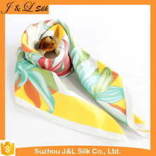 Customized Fashion High Quality Ladies Wholesale New Twill Silk Scarf