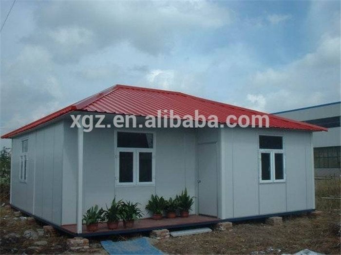 low cost nice appearance prefab small steel frame house
