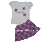 Custom Children's Clothing Sets Kids Frock Design Clothes Wholesale Price Clothing