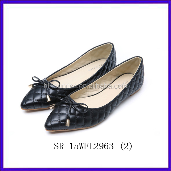 Black New Stylish Ballet Flat Shoes Women 2015 Ladies Elegant Flat ...