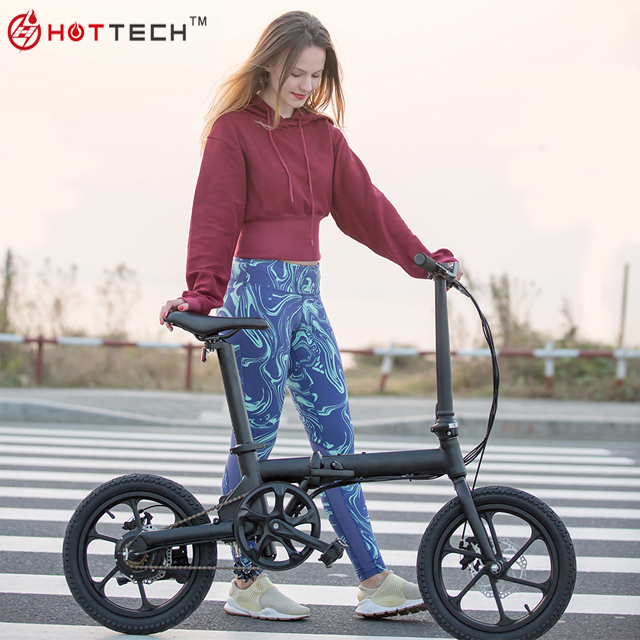 "HOTTECH 5 Classes PAS CE Certificate 16"" Fire Wheel Portable 36V Folding Electric Fold up <strong>Bicycle</strong>"