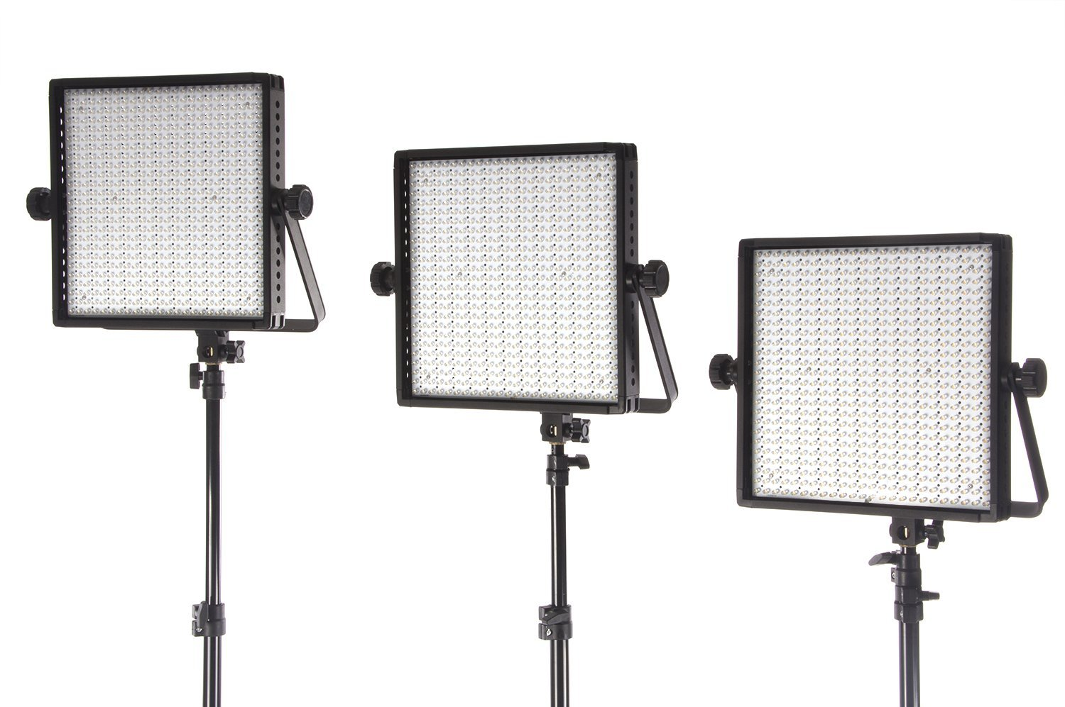StudioPRO (Set of 3) S-600B Dimmable Super Bright 600 Full Spectrum LED Light Panel Used for Film, Video and Photography Studio Lighting Kit - Continuous 3200K-5600K Bi Color