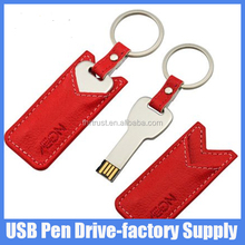 Promotional Gift Fast disk 4GB 8GB Flash Drive USB 3.0 Leather keychain Pen Drive Jump Drive