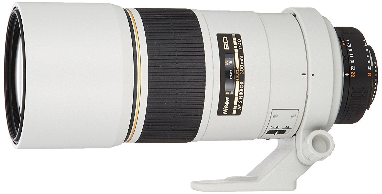Single focus lens Nikon Ai AF-S Nikkor 300mm f/4D IF-ED light gray full size corresponding