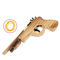 New arrival kids toys wooden toy gun classic playing rubber band toy pistol guns interesting kids