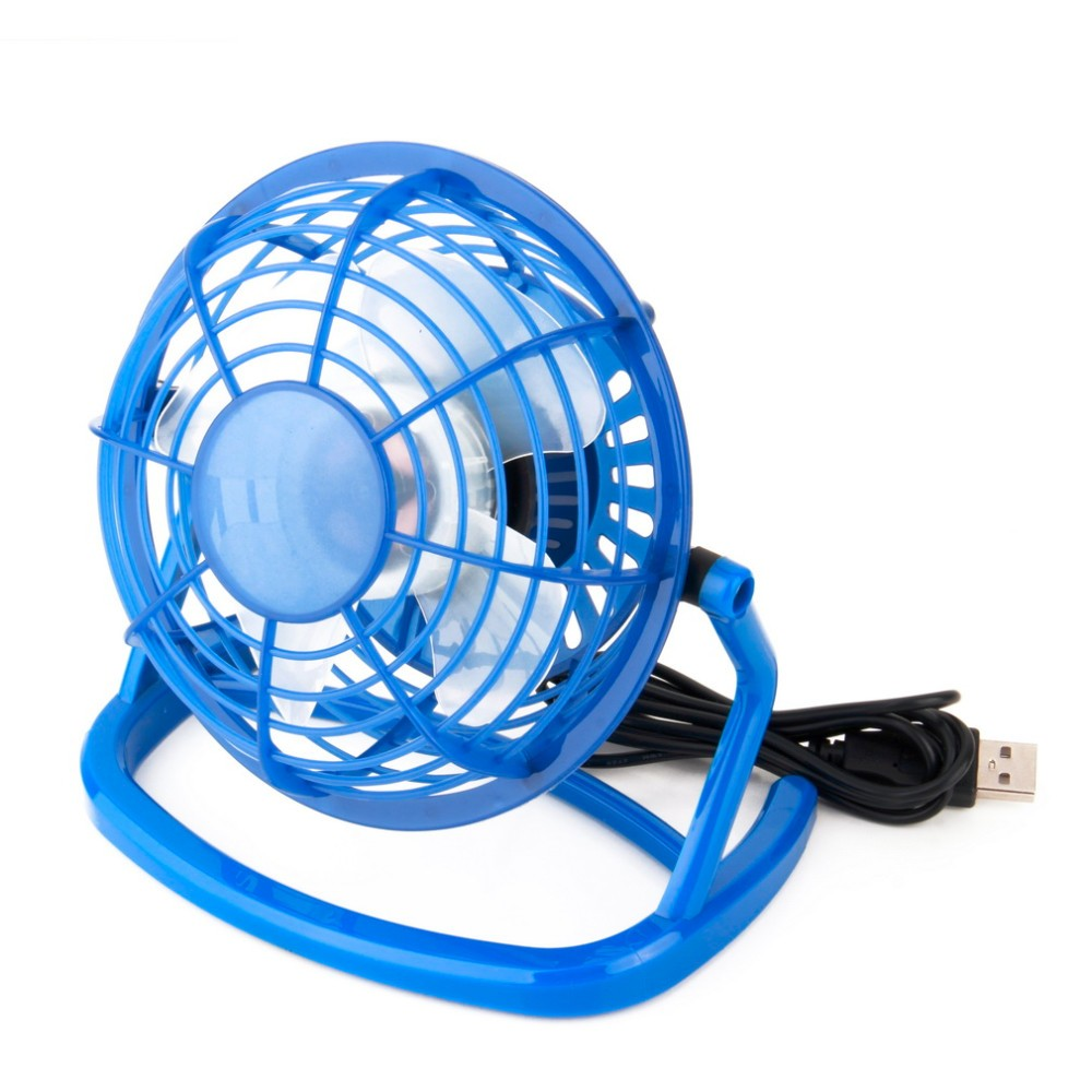 USB Fan Portable DC 5V Small Desk 4 Blades Cooler Cooling Fan USB Mini Fans Operation Super Mute Silent 2.5W,C