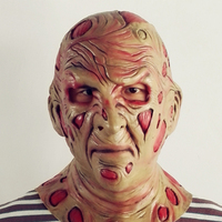 Party Costume Horror Mask Deluxe Freddy Krueger Mask Scary Halloween Latex mask